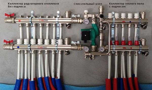 Коллектор теплого пола водяной